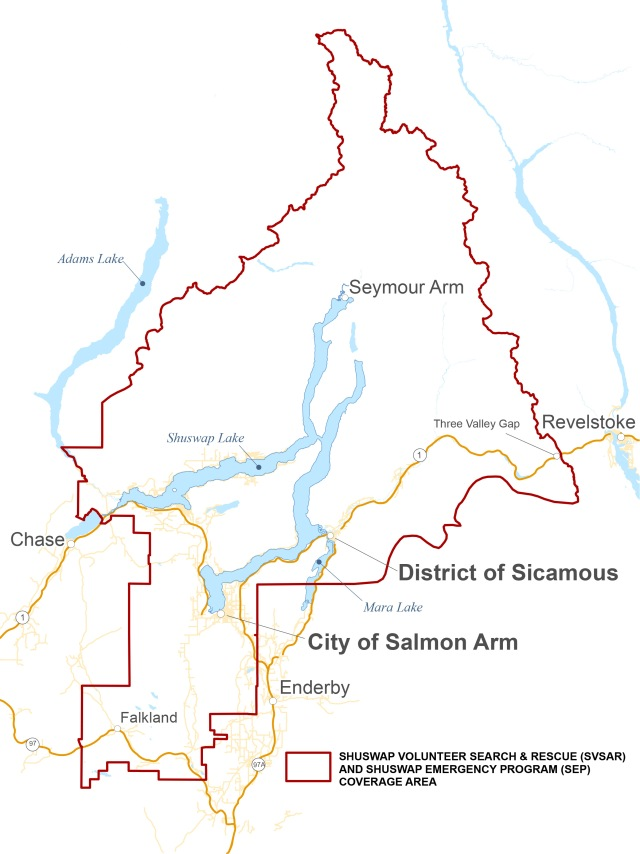 Shuswap Search and Rescue Operational Territory